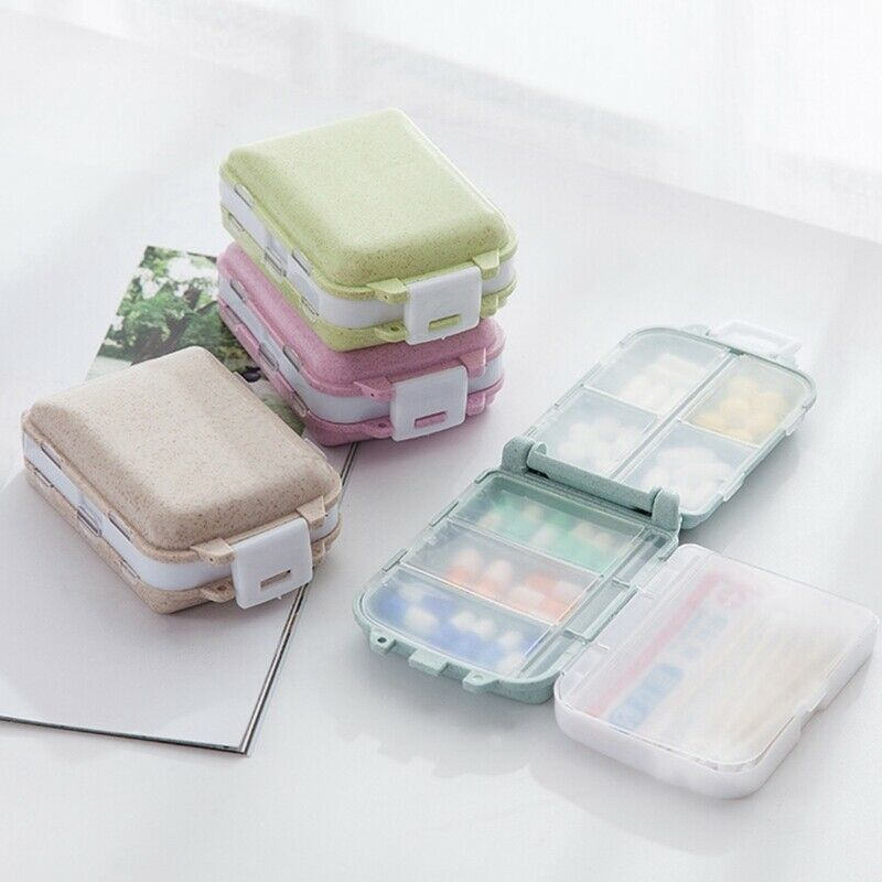 3 Layer Cute Pill Box with 7 Compartments 7-day Travel Small