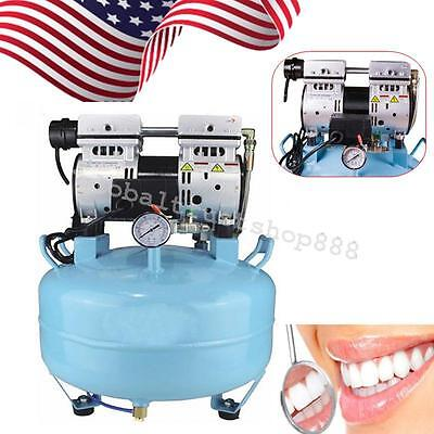 Dental Noiseless Oil Free Oilless Air Compressor 30l 550w 130lmin Lab System Ce