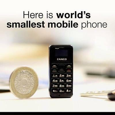 Zanco Tiny T1 Mobile Phone Worlds Smallest Phone Gadget Mini See It To Believ It