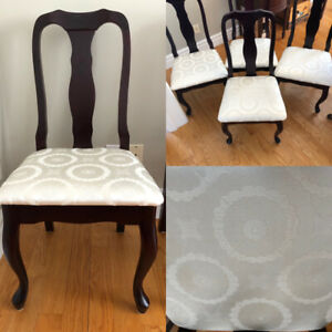 Four Queen Anne dining room chairs