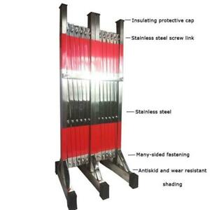 Stainless Steel Telescopic Safety Fence Movable Folding Fence 056149