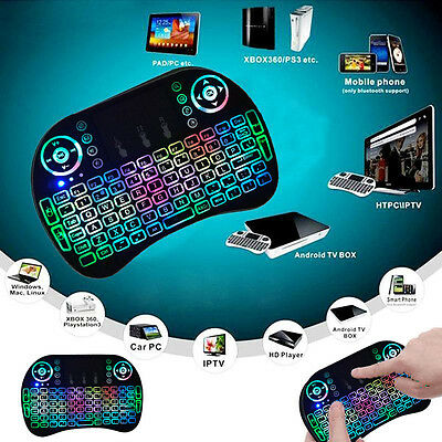 Backlight LED Mini i8 Wireless Keyboard 2.4GHz Keyboard RT Control Touchpad Game