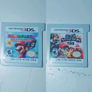 Mario party and Super smash for Nintendo 3ds