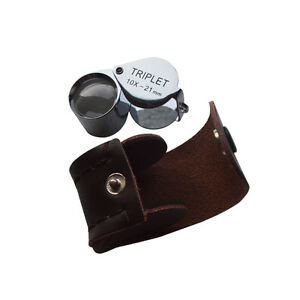 10X Triplet Aplanatic Jeweler Loupe Magnifier  220151