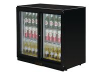 Polar Double Door Back Bar Cooler With Led Lighting