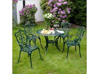Stamford Ornate Cast Iron patio table and chair set