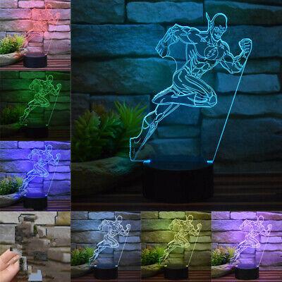 Cheap Teen Decor (Superhero The Flash 3D Home Decor Night Light  7 Color Change LED Table Lamp)