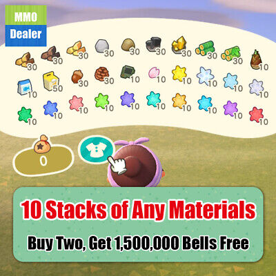 Animal Crossing New Horizons Items, All Materials, Wood, Clay, Iron nugget, etc.