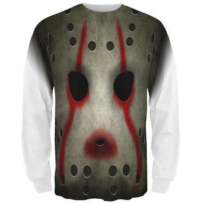 All Halloween Movie Masks (Halloween Horror Movie Hockey Mask Costume All Over Mens Long Sleeve T)