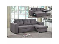 SAME DAY EXPRESS DELIVERY FABRIC AND LEATHER SOFA BED !! 2 COLOURS AVAILABLE IN STOCK