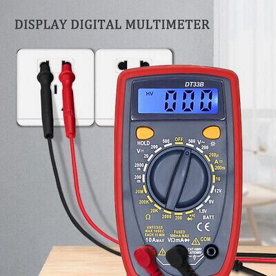 Digital Multimeter Fluke Meter Amp Ohm Voltmeter Autorange Volt Tester