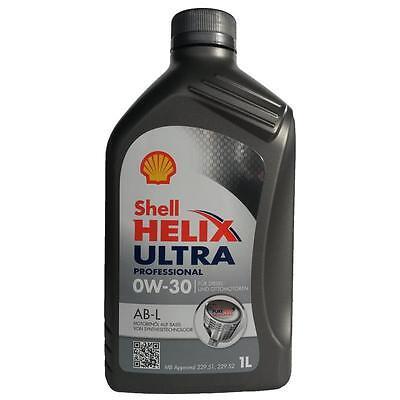 Shell Helix Ultra Professional AB-L 0W-30 1 Liter, MB 229.52, 229.51, 229.31
