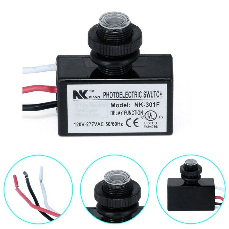 Photoelectric Photocell Dusk to Dawn Button Photo Control Eye Switch Mount nice