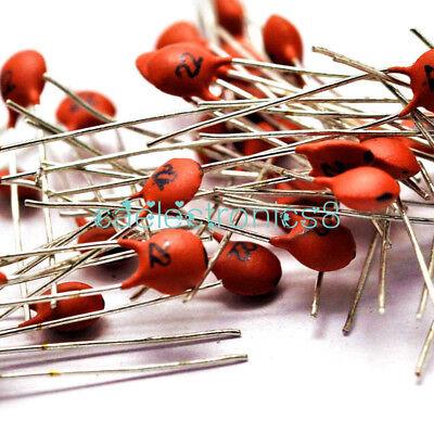 100pcs 50v Ceramic Capacitor Dip 22pf 10 To 85 20 2.5x Rated Voltage Ca