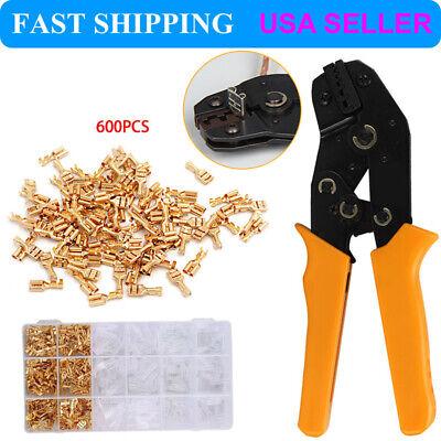 Us Sn-48b Crimp Plier Tool300pcs Female Spade Terminalsset For Dupont Jst-sm