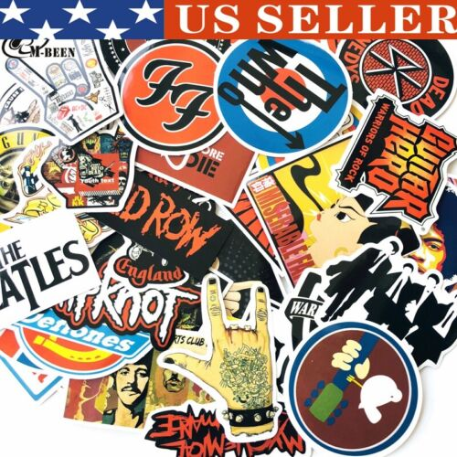 Home Decoration - US Stickers Lot Rock Band Punk Music Heavy Metal Bands Laptop Car Bumper Sticker