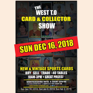 SUN DEC 16 - SPORTS CARDS SHOW | NEW VENUE! Hockey Baseball