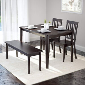 CorLiving DRG-695-Z6 Atwood 4pc Dining Set,  Cappuccino