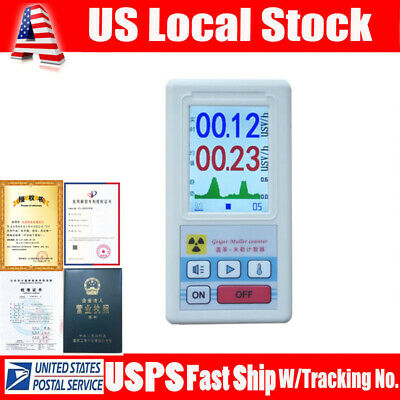 Geiger Counter Gm Tube X-ray Beta Gamma Dosimeter Nuclear Radiation Detector Us