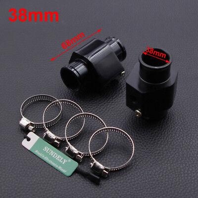 Water Temp Temperature Gauge Radiator Hose Sensor Adapter Joint Pipe Black 38mm