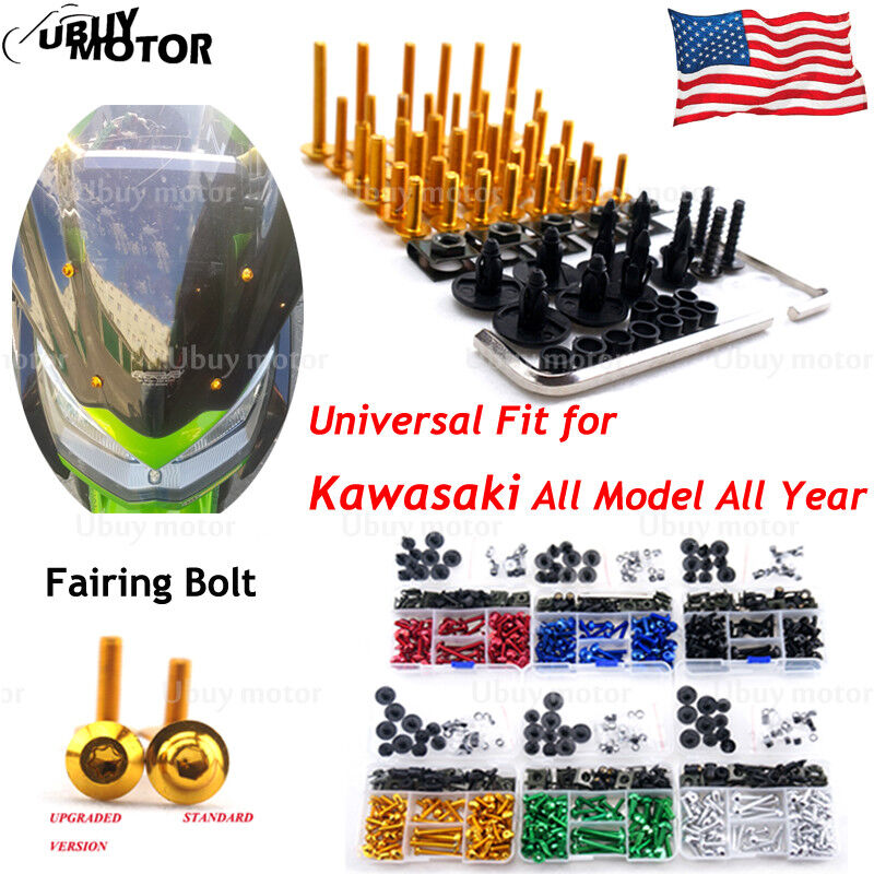 Fairing Bolt Kit Bodywork Screws For Kawasaki Ninja ZX636R ZX6RR ZX14 250R 300R