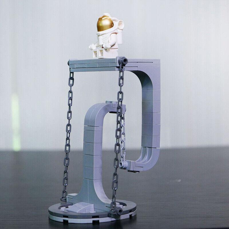 DIY Tensegrity Sculptures Anti-Gravity Building Novel Physics Balance Bricks/&qi