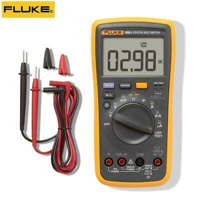 Fluke 18b F18b Digital Multimeter Acdc Voltage Ohm Current Led Test Meter