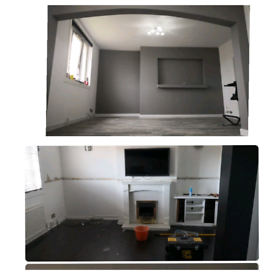 Joinery, plumbing, tiling, plastering, painting and decorating