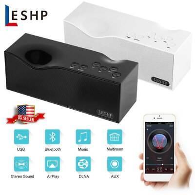 FM Radio Wireless Bluetooth Speaker Alarm Clock Portable Dig