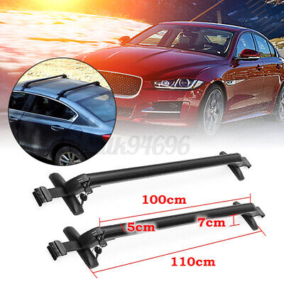 75KG 1m Universal Alloy Car Theft Car Roof Bar Without Rails Lockable Rack Box
