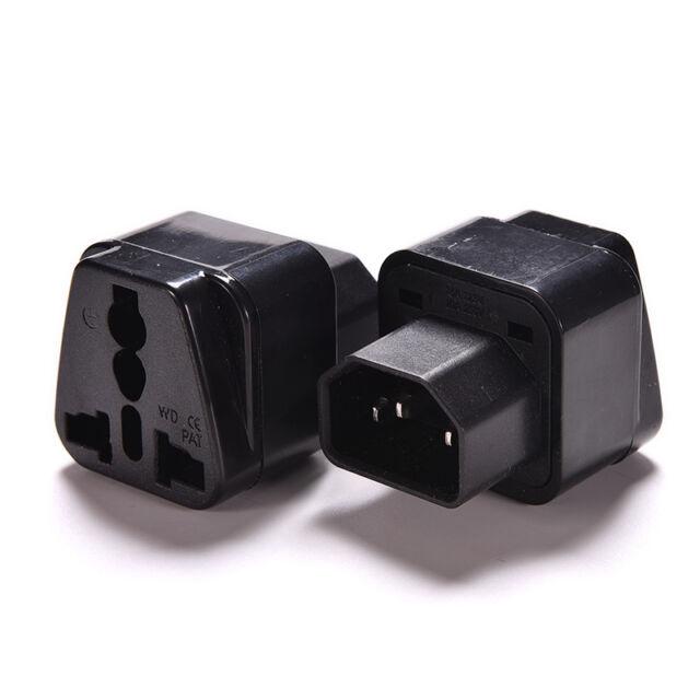 IEC 320 PDU UPS C14 Plug To Universal Female Socket Power Adapter Converter MDAU