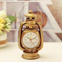Retro style kerosene lamp alarm clock
