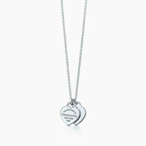 Return to Tiffany mini double heart tag pendant