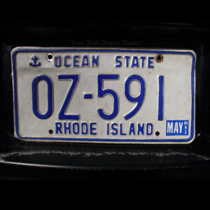 Rhode Island United States Licence Plate