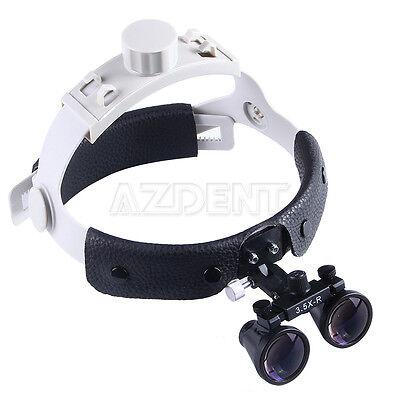 Dental Headband Surgical 3.5x Binocular Loupes Magnifier Optical Black