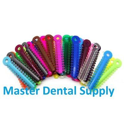 1040 Orthodontic Ligature Ties Assorted Color Elastomeric Rings Bracket Braces