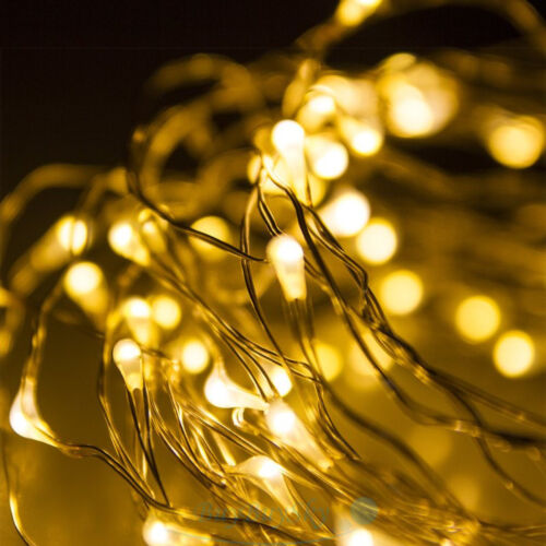 LED Lichterkette 50 LEDs Weihnachtslichterkette Kette 5m Warmweiß Außen Innen