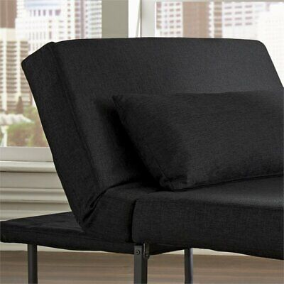 Hawthorne Collection Convertible Chaise Lounge in Charcoal Collection Chaise Lounge