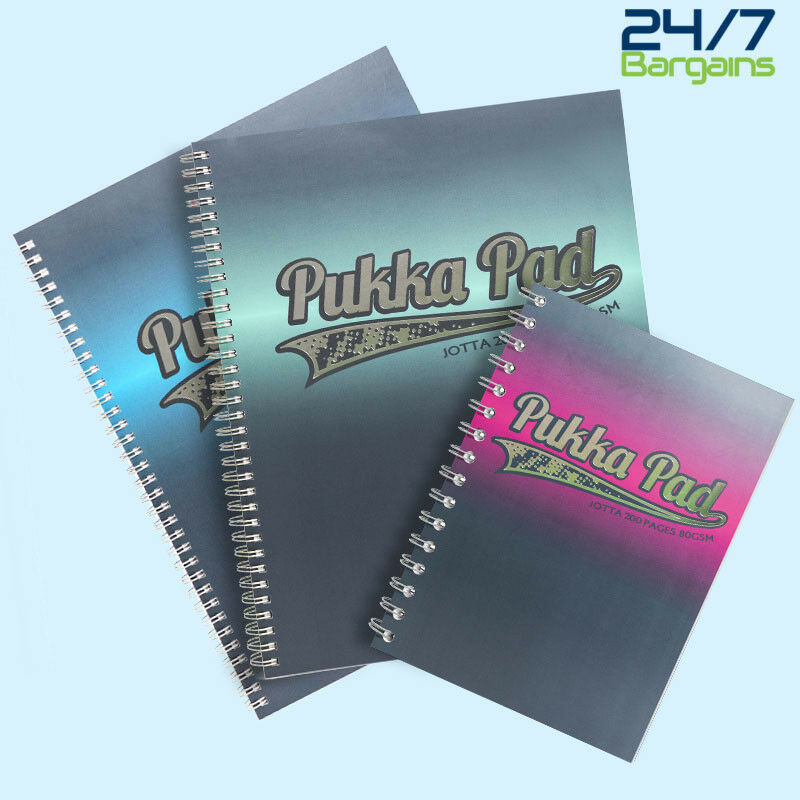 Pack of 3 Pukka Pad Notebook Wirebound Jotta 80gsm Ruled 200 Pages A5 Ref JM021