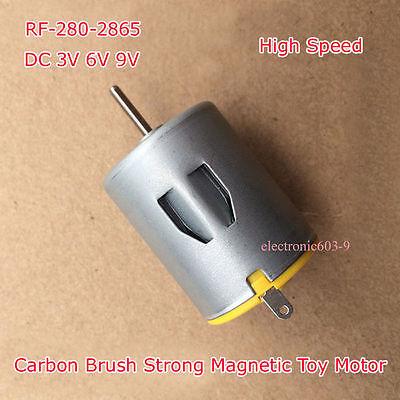 Dc 3v 6v 9v Rf-280-2865 Motor Micro Carbon Brush Strong Magnetic For Toy Motor