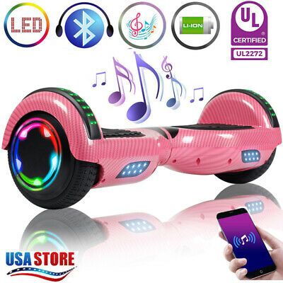 "6.5"" Hoverboard Self Balancing Smart LED Electric Scooter Wheel no Bag Pink UL"