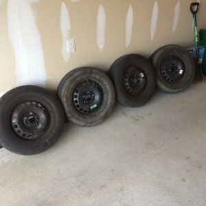 195 165 15 Pirelli P4's All Season Tires & Rims - Volkswagen