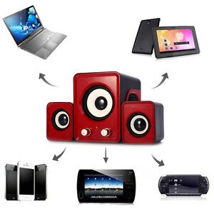 *NEW* 2.1 USB Multimedia Mini Speakers For Computer - Red London Ontario image 1