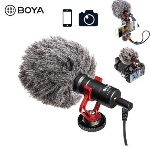 BOYA BY-MM1 Shotgun Microphone 3.5mm TRS TRRS Output for Smartphone Camera DSLR