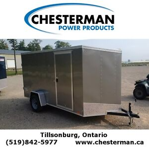 2016 Pace 6x12 Outback Deluxe V-Nose Cargo Trailer - Rear Ramp London Ontario image 1