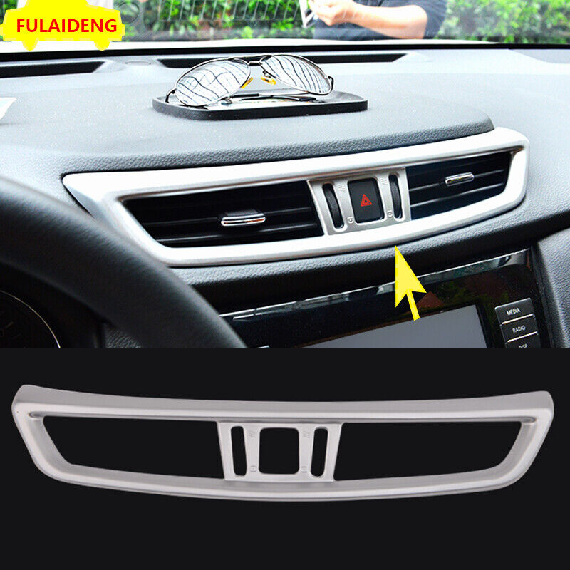 Middle Console Air Condition Vent Cover Trim 1pcs For Nissan Rogue X-Trail 2017