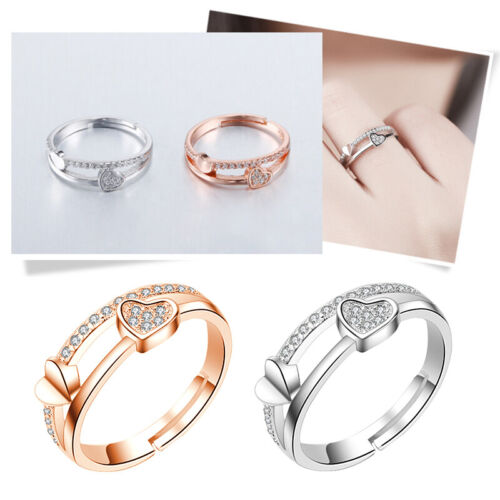 Heart Rings for Women Adjustable Unique Simple Bijoux Love W