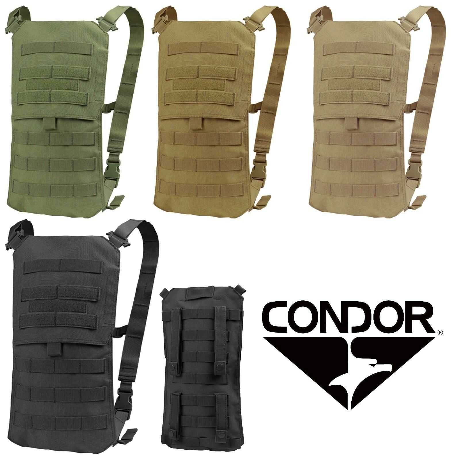 7ca18c01d8 Condor Modular MOLLE PALS Oasis Hydration Carrier Backpack and 2.5L Bladder  HCB3
