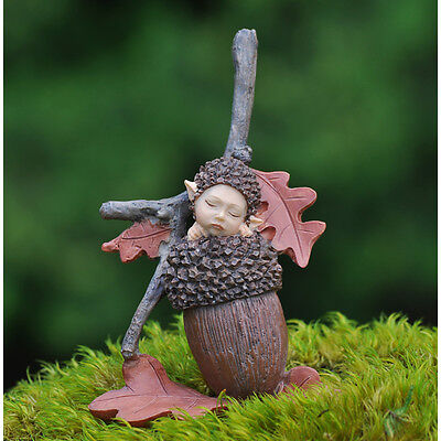 Miniature Dollhouse FAIRY GARDEN ~ Acorn Baby ~ NEW
