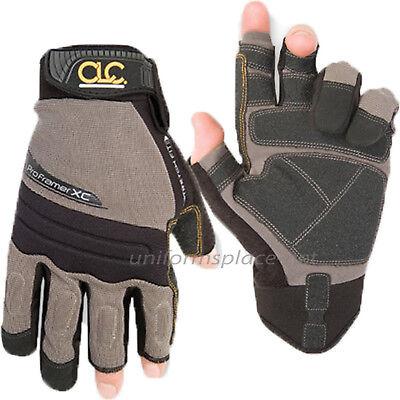 Clc Work Gloves Mens Flex Grip Pro Framer Xc Fingerless Gloves 140